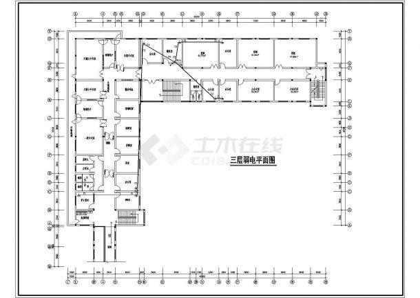 某县医院三层综合楼设计cad施工图-图二