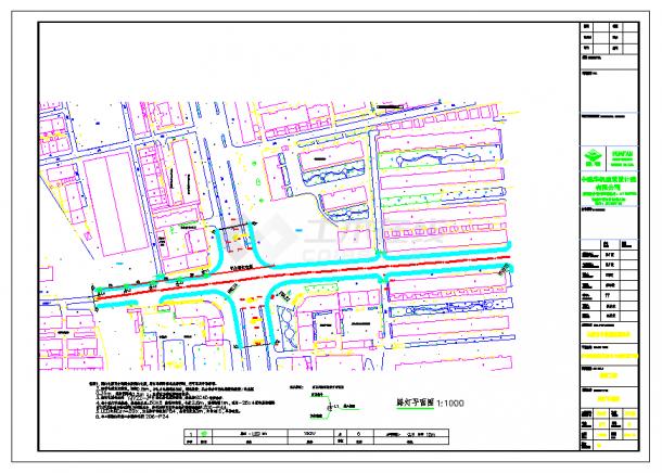 某道路路灯设计平面图及详图设计cad图纸-图二