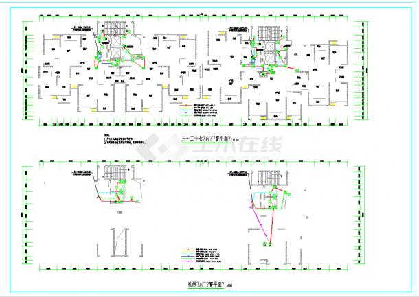 某地高层住宅楼火灾报警系统CAD设计施工图纸-图一