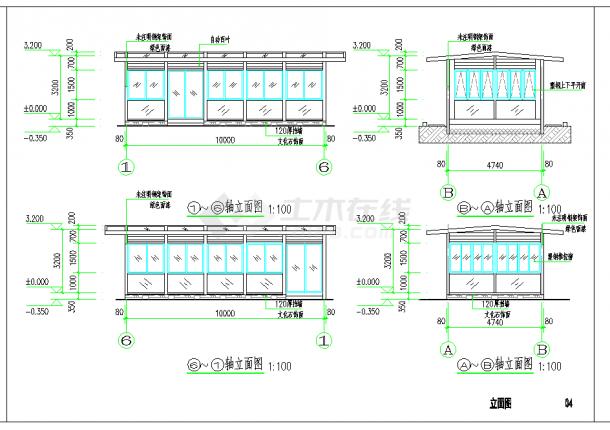 某地农庄室外阳光房建筑方案设计CAD施工图纸-图二