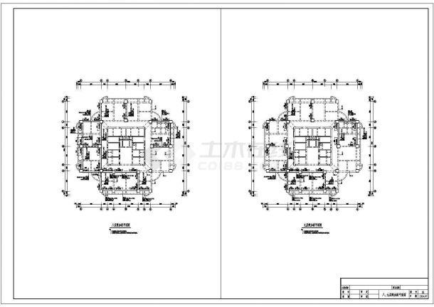 [河南]原四层增建至八层框架核心筒结构办公大厦续建施工设计图(烂尾楼续建工程)-图二