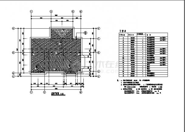 北京某豪华别墅住宅楼建筑结构设计施工cad图纸-图一
