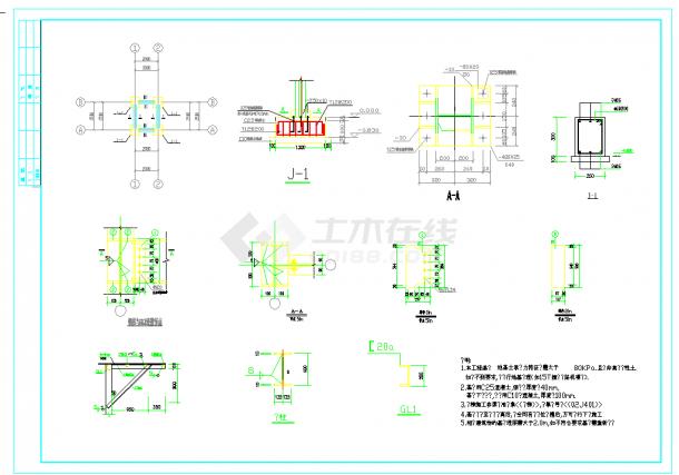 某地室外住宅钢结构楼梯设计cad施工图纸-图一