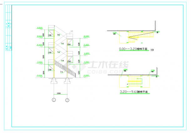 某地室外住宅钢结构楼梯设计cad施工图纸-图二