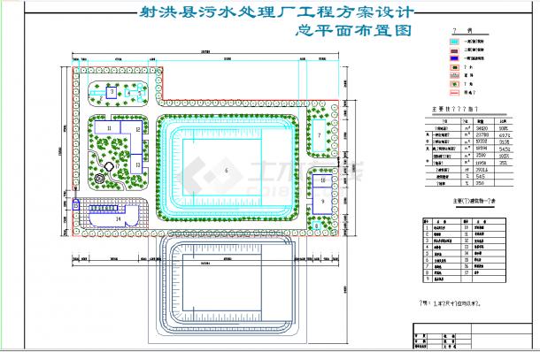 四川某县城市污水处理工程方案设计CAD施工图纸-图二