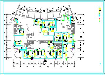 某医院手术室空调通风cad施工设计图纸-图一