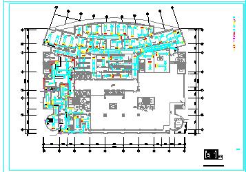 某医院手术室空调通风cad施工设计图纸-图二