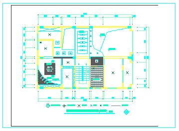 跃层户型家装cad施工设计图-图一