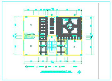 跃层户型家装cad施工设计图-图二