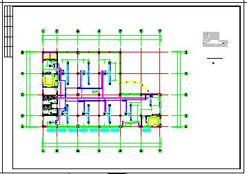 整套办公楼VRV空调系统cad施工设计图-图一