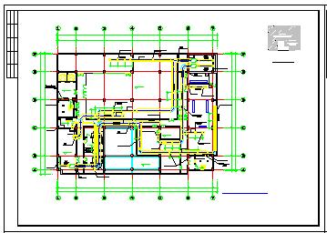 整套办公楼VRV空调系统cad施工设计图-图二
