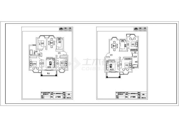 某经济适用房小区户型设计cad平面方案图-图一