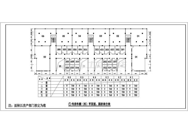 某经济适用房小区户型设计cad平面方案图-图二