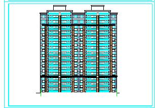某16层安置楼高层施工cad设计图-图二