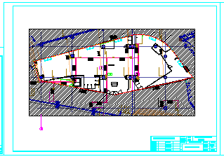 某商场全套装修cad施工设计图-图一