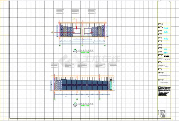 某地桃源会馆洗浴施工CAD图纸-图一