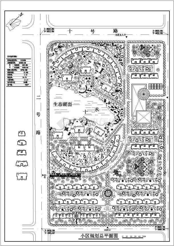 105823.9平米小区规划设计图纸-图一