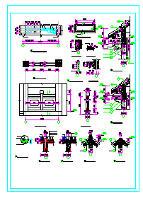 仿古管理用房建筑设计施工图纸-图一