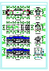 仿古管理用房建筑设计施工图纸-图二