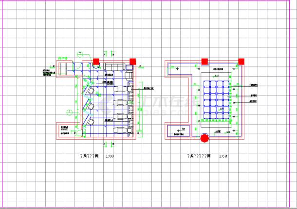 某地某洗头房装修方案设计CAD施工图纸-图一