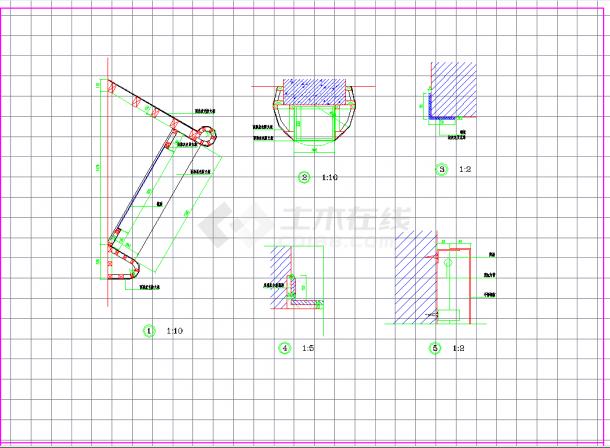 某地某洗头房装修方案设计CAD施工图纸-图二
