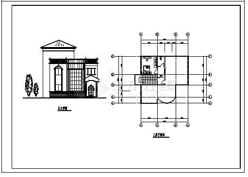 住宅设计_某三层农村欧式住宅全套建筑施工cad图,含12套设计图-图一