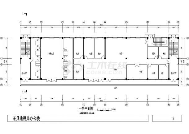 义务某小型多层办公楼建筑CAD设计施工图纸-图一