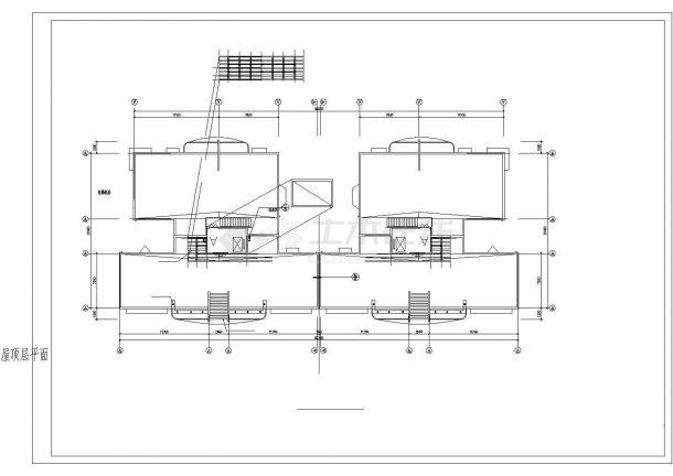住宅小区详细规划图纸高层建筑一梯4户设计全套cad图-图二