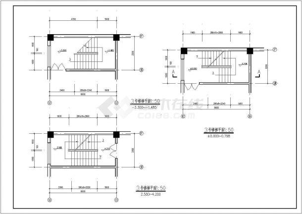 高档白银多层商务综合楼全套cad施工设计图纸-图一