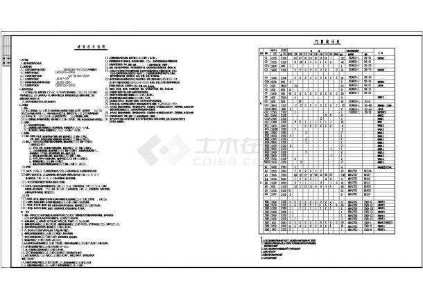 上海某简约式多层办公楼全套施工设计cad图纸-图一