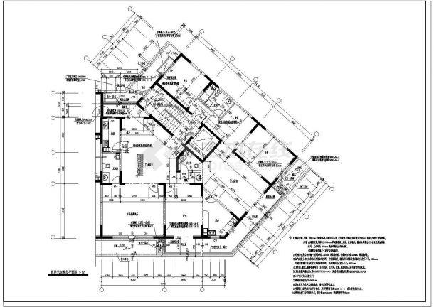 多层特色酒店建筑设计施工图-图一
