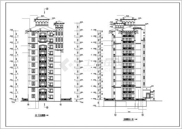 郊区高层住宅建筑设计施工图-图二
