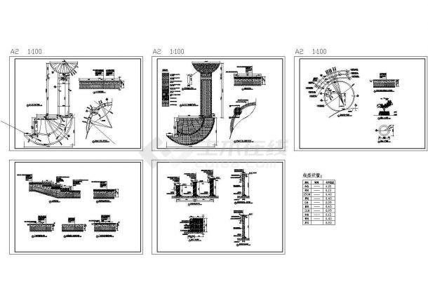 双庭广场景观绿化设计cad全套施工图(标注详细)-图二
