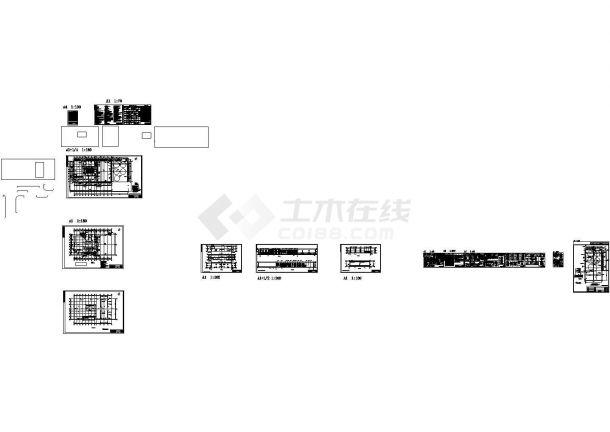 地上一层钢框架结构工作站结构施工图-图一