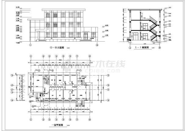 【山西】某地多层房屋建筑设计施工CAD全套图纸-图一