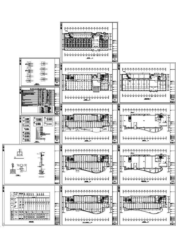 办公楼设计_某八层办公楼强电施工CAD图-图一