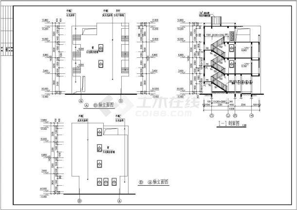 某地中式风格多层别墅楼全套设计施工图(含效果图)-图二