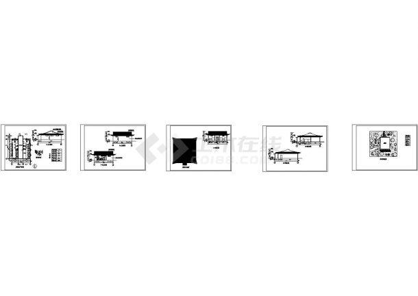 公共厕所建筑施工cad设计图-图二