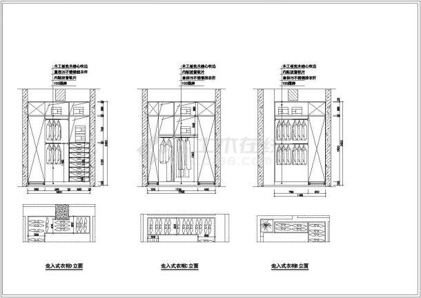 标准两居室家居装饰建筑设计施工图-图一