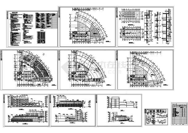 高校行政楼建筑施工图 cad设计图-图二