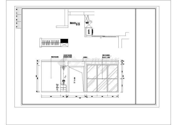 两厅两厅两卫室内装修建筑设计施工图-图一