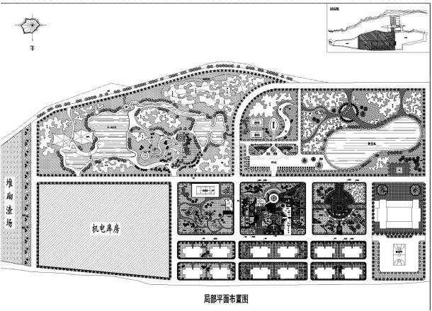 某电站景观规划设计施工图纸-图二