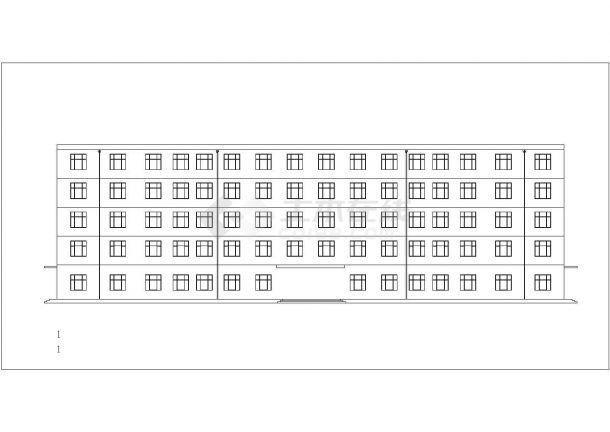 安康市某职业技工学院5层框架结构教学楼全套建筑结构设计CAD图纸-图一