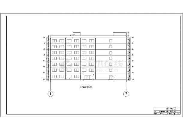 延安市科技学院7230平米7层钢混框架结构教学楼建筑结构设计CAD图纸-图一