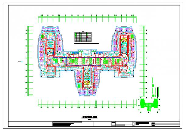 某医院智能照明系统设计cad施工图-图二