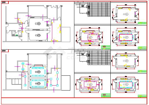 某医院电气施工cad设计图纸-图二