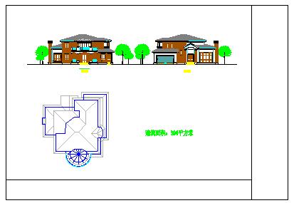 两层美式别墅建筑设计施工图-图一