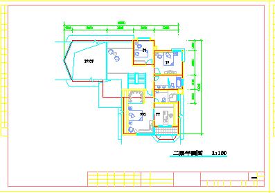 某地区豪华别墅建筑施工cad设计图-图一