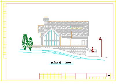 某地区豪华别墅建筑施工cad设计图-图二