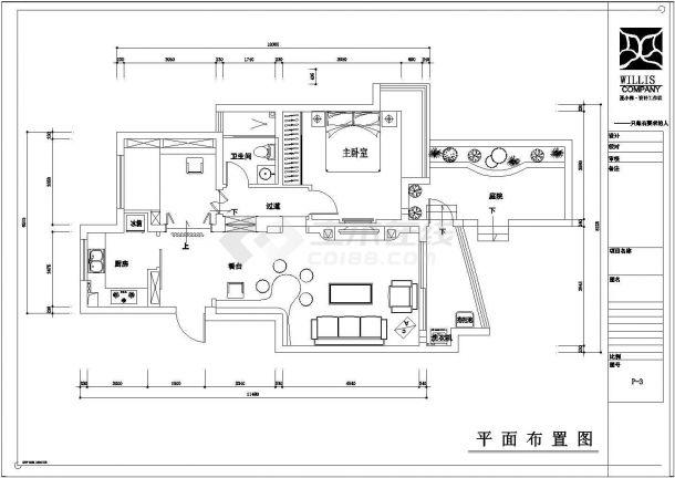 常熟城市花园精品小区住宅楼施工设计Cad图纸(含设计说明)-图二